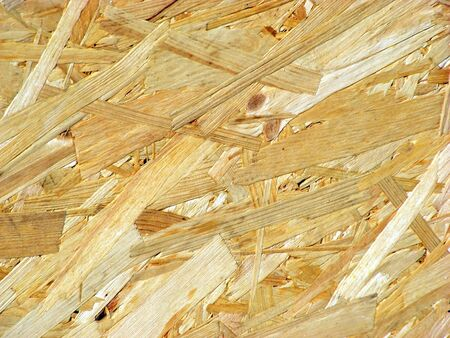 The Outer Surface Of A Sheet Of Plywood From Wood Chips Stock Photo