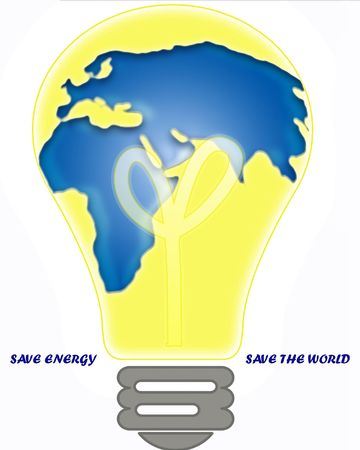 Ånergy Saving - an electric light bulb, the savings of all types of energy will save the environment photo