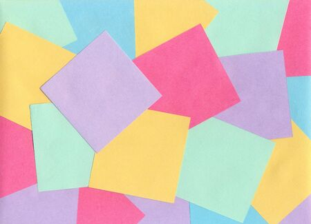 Several empty colored sheets for recording notes in the office