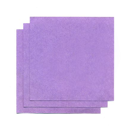 Purple sheets of paper for notes isolated on white background Stock Photo