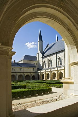 abbaye: Courtyard of Abbaye de Fontevraud