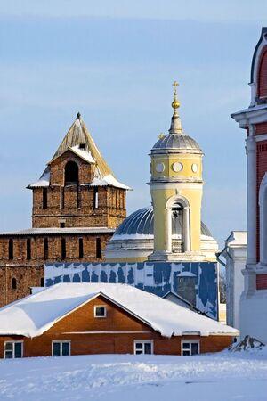 bilding: Old Tower and Belfry in winter, Kolomna, Russia