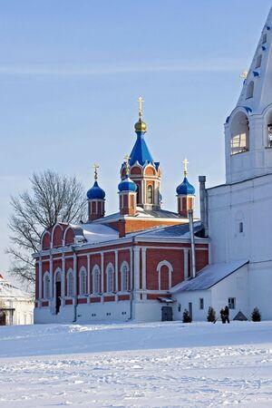 bilding: Church and Belfry at winter Kolomna