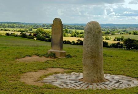 The Stone of Destiny at the Hill of Tara Stock Photo - 6466427