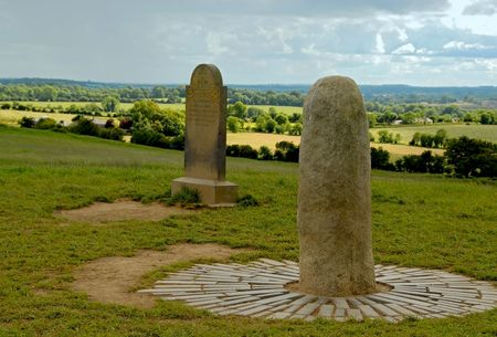 stone of destiny: The Stone of Destiny at the Hill of Tara Stock Photo
