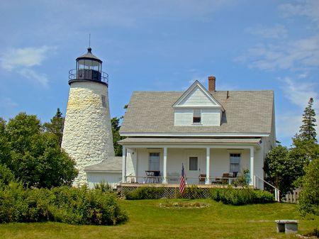 head light: Head Light House de Dyce, ME Castine  Foto de archivo