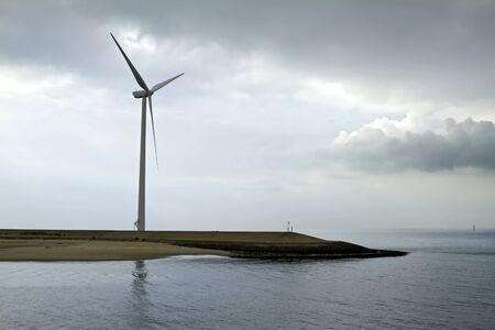 The wind turbine is the modern power generation devices photo