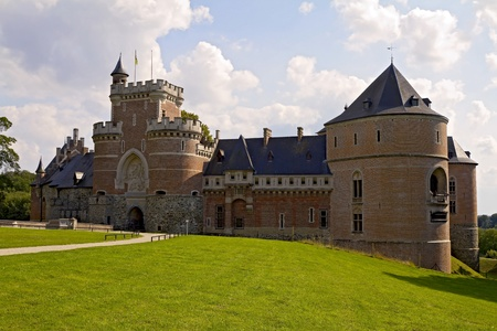 Renaissance fortress Gaasbeek is one of the biggest castle of Belgium