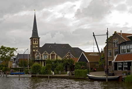 Woudsend is a small village in the province Friesland of the Netherlands  photo