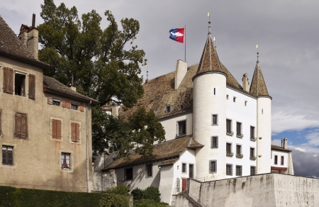 Nyon Castle is a 12th century fortress above Lake Geneva