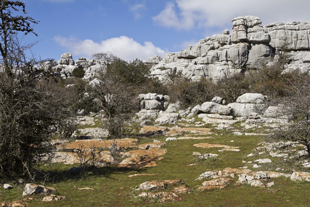 stratified: El Torcal de Antequera is a nature reserve in the Sierra del Torcal mountain range