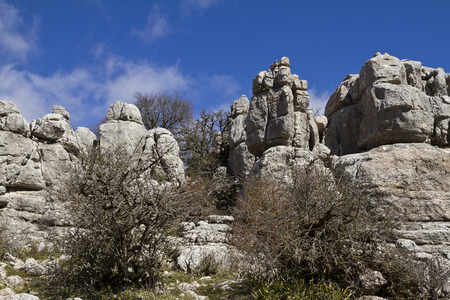 crack climbing: El Torcal Park is some of the most beautiful and impressive limestone landscapes in Europe