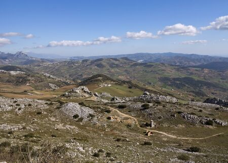 crack climbing: View from La Sierra de Torcal, Andalusia
