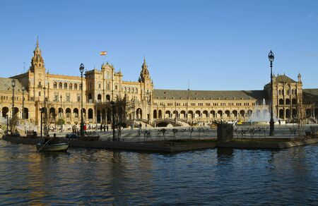 spanish architecture: Plaza de Espana is a landmark example of the Renaissance Revival style in Spanish architecture.