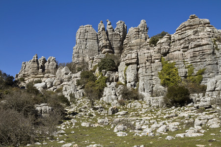 rockclimbing: El Torcal Park is known for its unusual limestone rock formations