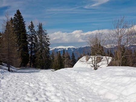 Snow Hut in Naturpark Dobratsch, Carinthia Stock Photo