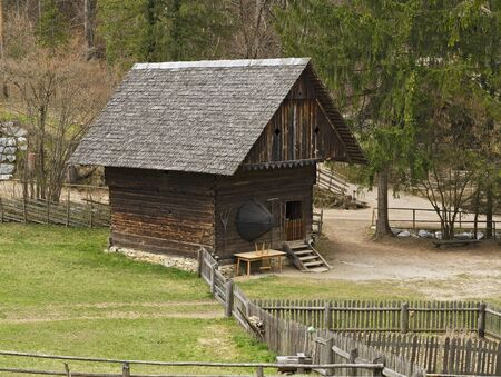 Open-Air Museum Stuebing: Granary from Silberberg in Grossstuebing (Styria) Stock Photo