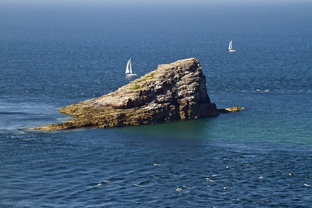 Amas du Cap is a large wedge-shaped rock near Cap Frehel, Brittany, France