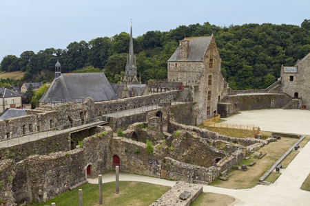 Magnificent Fougeres castle is one of the finest fortresses in Europe Stock Photo