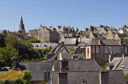 Dinan is a medieval city with half-timbered houses and old antique walls