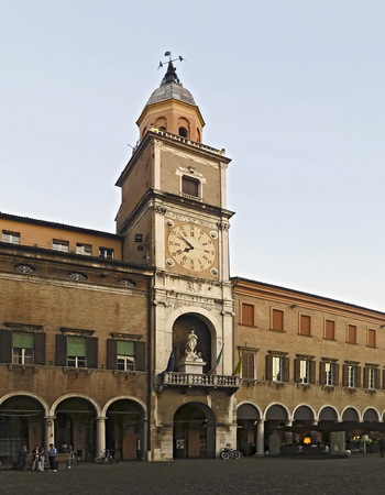Town Hall of Modena with tower clock