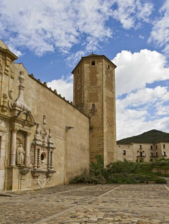 Church and tower of Poblet Monastery Stock fotó