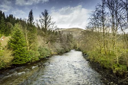 highlands region: Stream in Lochgoilhead