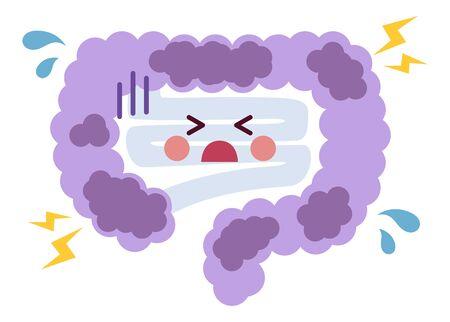 Constipation bad sick intestine