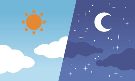 Day and night / Sun and moon
