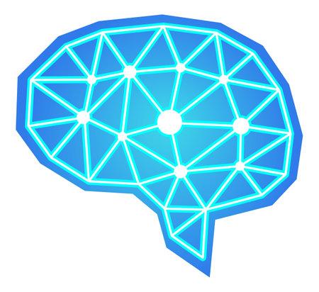 Brain graphic illustration