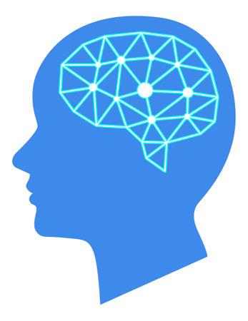 Human psychology brain illustration