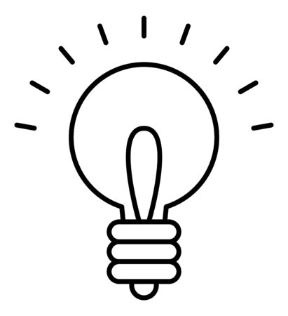 Light bulb inspiration vector icon 免版税图像 - 148118478