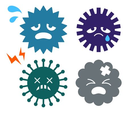 Virus, bacteria and dust characters 矢量图像
