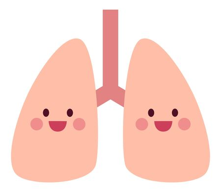 Smile and healthy lungs 免版税图像 - 148118602