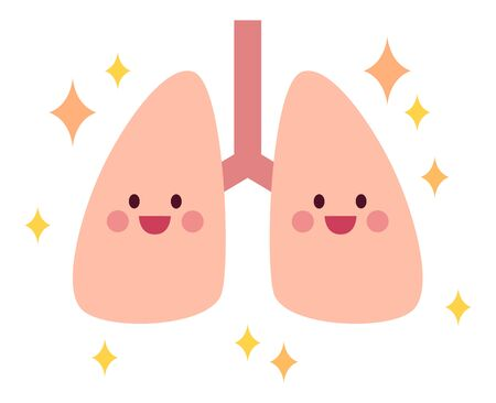 Clean and healthy lungs, sparkling