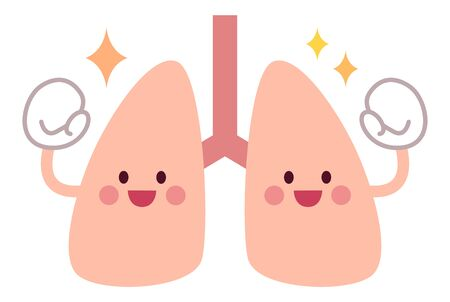 Lungs doing guts pose with health