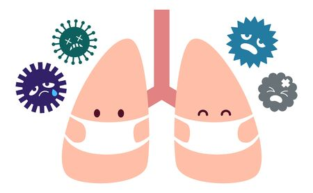 Masked lung character and virus