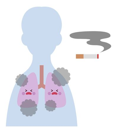Smoker (male) lungs 矢量图像