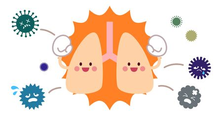 Immune lung character and virus