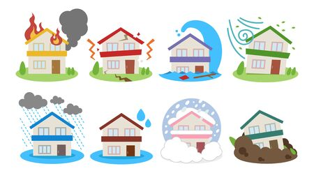 Disaster disaster icon set