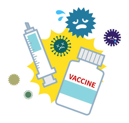 Vaccines to fight off viruses  イラスト・ベクター素材