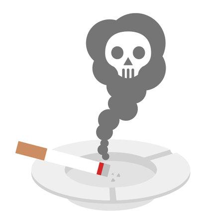Cigarette and vekromark side smoke  イラスト・ベクター素材