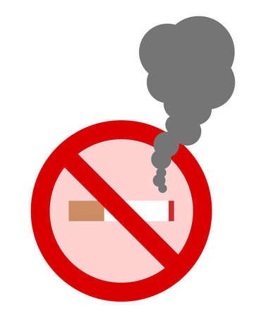 Secondary smoke from the non-smoking mark  イラスト・ベクター素材