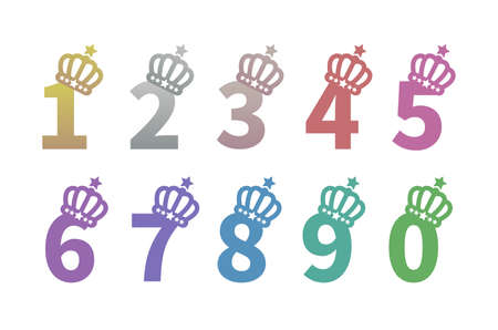 0-9 of the number with the crown
