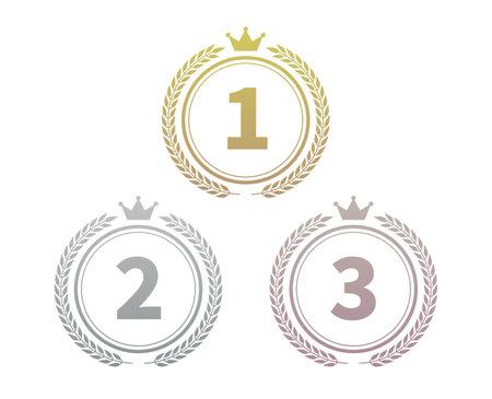 Stylish gradient ranking icon