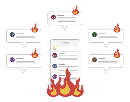 Social media flaming and spreading