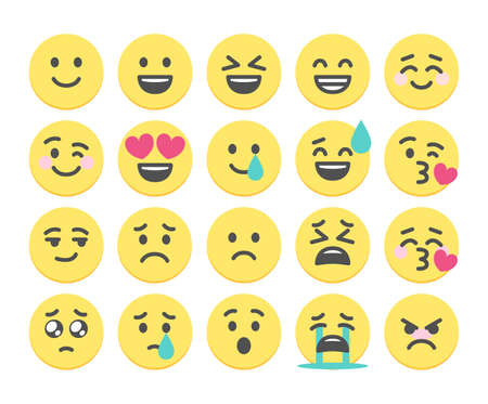 20 face emojis