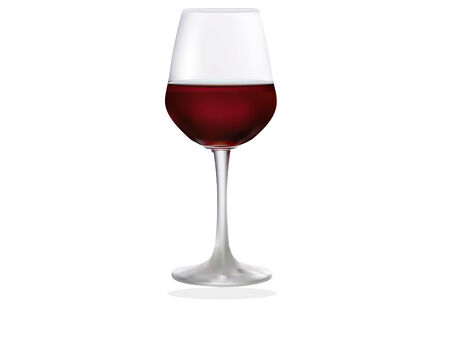 vector illustration of a glass of red wine
