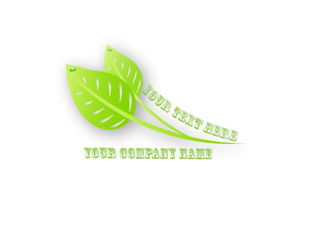 people nature:  green leaves logo