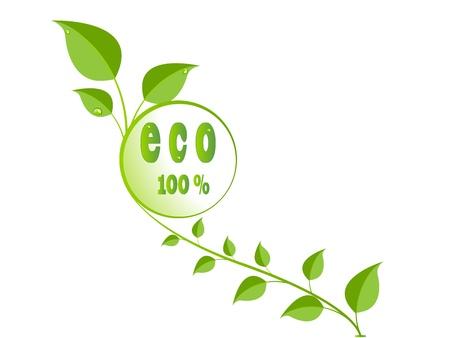 Grüne Eco verlässt logo Standard-Bild - 9319982